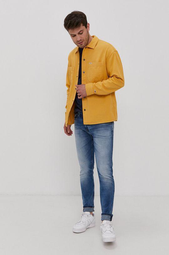 Tommy Jeans - Koszula bawełniana żółty