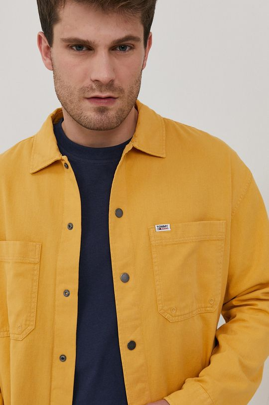 żółty Tommy Jeans - Koszula bawełniana