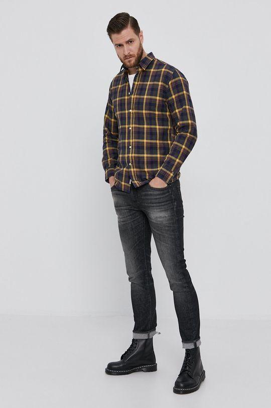 Pepe Jeans - Koszula bawełniana CALCUTT 100 % Bawełna