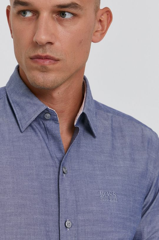 niebieski Boss - Koszula Męski