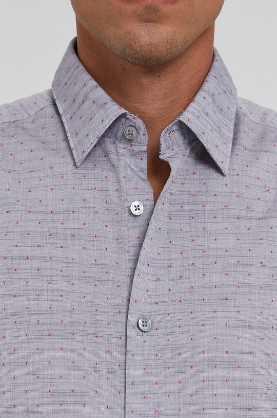 Boss - Koszula bawełniana szary