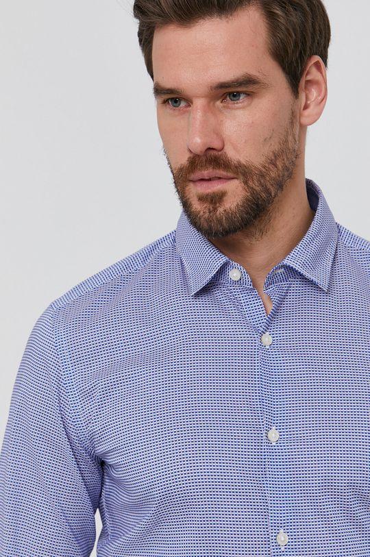 niebieski Boss - Koszula bawełniana Męski