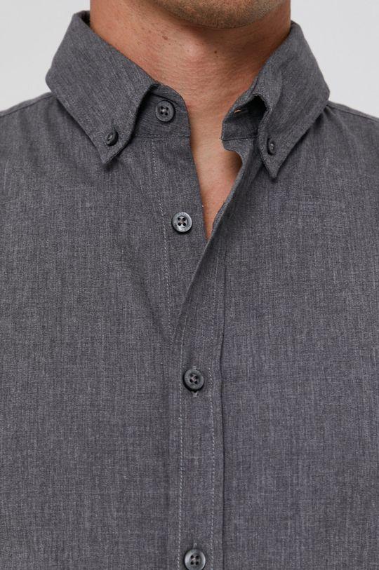 Boss - Koszula bawełniana Boss Casual szary