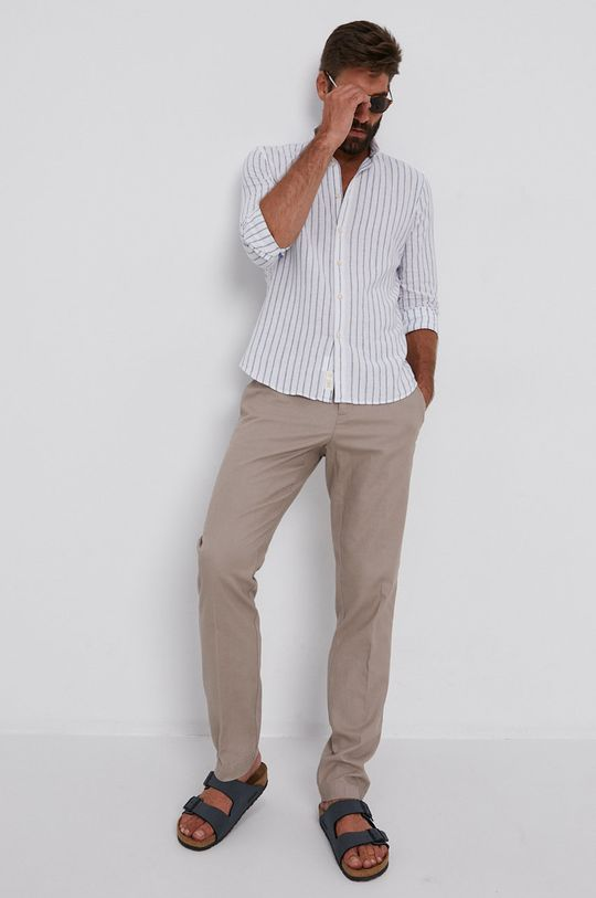Sisley - Košile  45% Bavlna, 55% Len