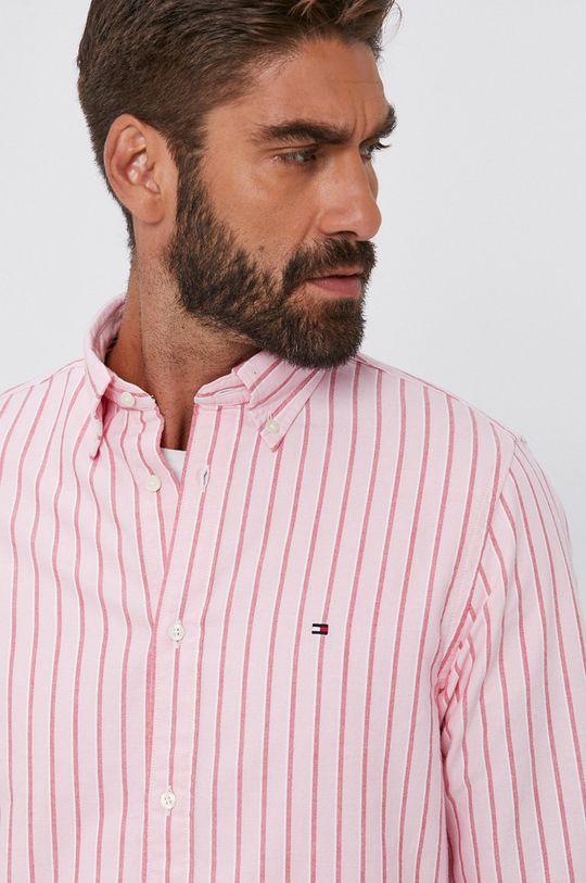 różowy Tommy Hilfiger - Koszula bawełniana Męski