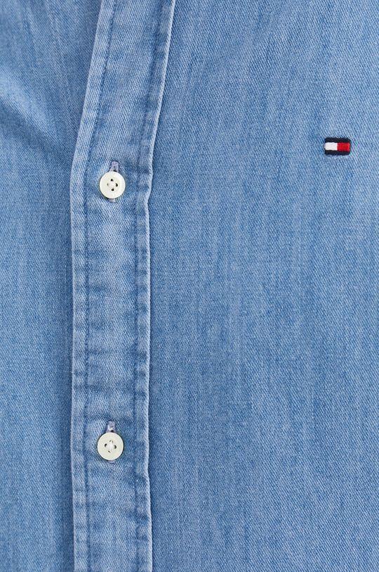 Tommy Hilfiger - Koszula bawełniana jeansowa niebieski