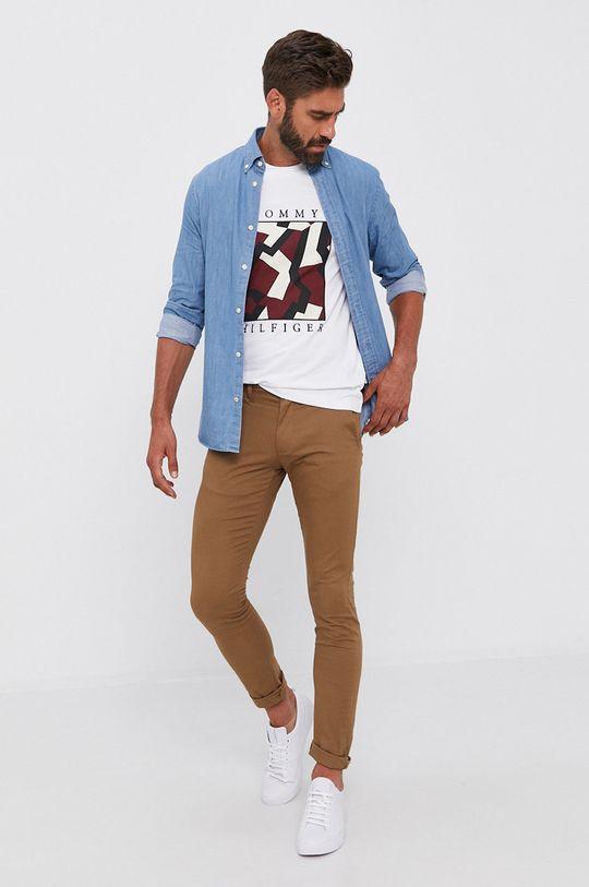 Tommy Hilfiger - Koszula bawełniana jeansowa 100 % Bawełna