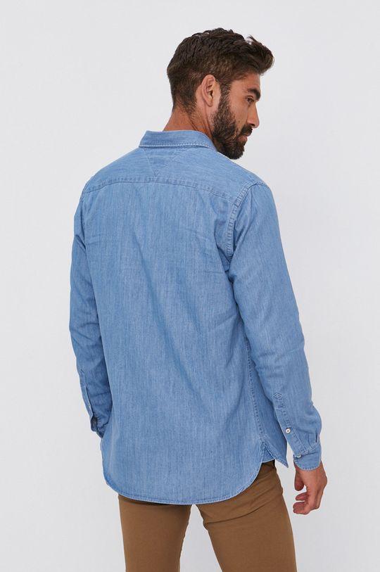 niebieski Tommy Hilfiger - Koszula bawełniana jeansowa