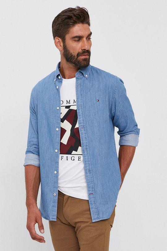 Tommy Hilfiger - Koszula bawełniana jeansowa Męski