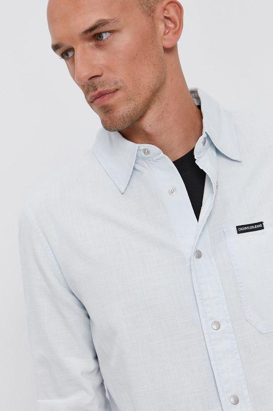 jasny niebieski Calvin Klein Jeans - Koszula bawełniana Męski