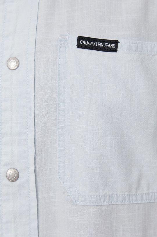 Calvin Klein Jeans - Koszula bawełniana jasny niebieski