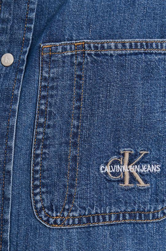 Calvin Klein Jeans - Koszula bawełniana jeansowa niebieski