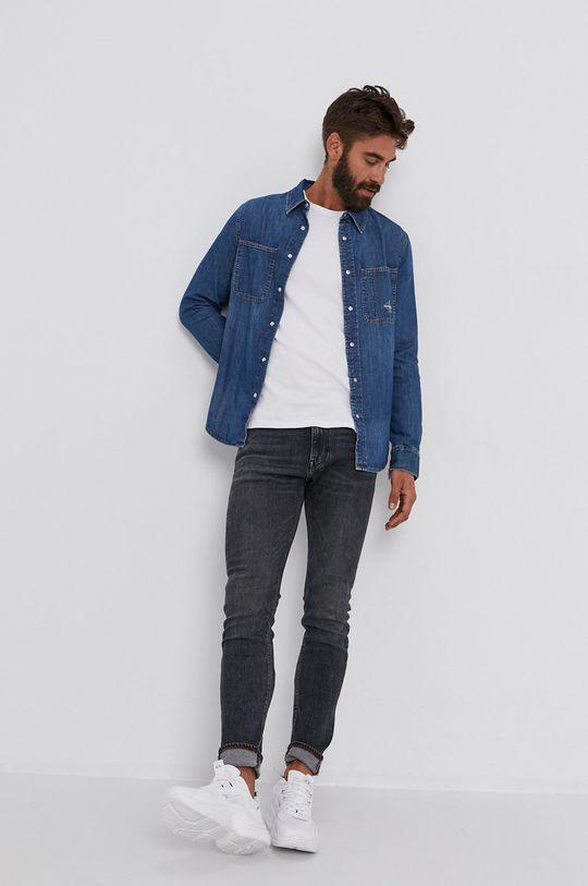 Calvin Klein Jeans - Koszula bawełniana jeansowa 100 % Bawełna