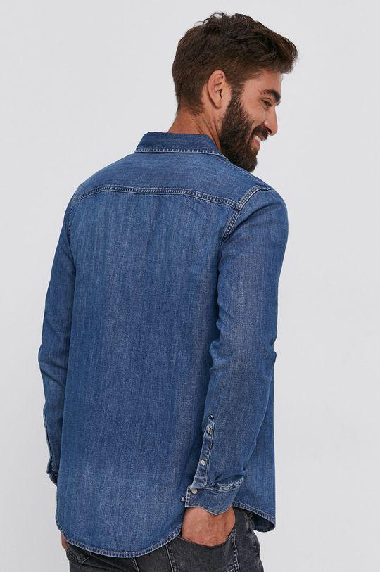 niebieski Calvin Klein Jeans - Koszula bawełniana jeansowa