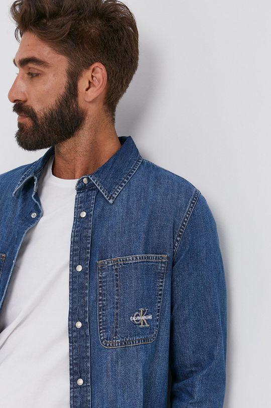 Calvin Klein Jeans - Koszula bawełniana jeansowa Męski