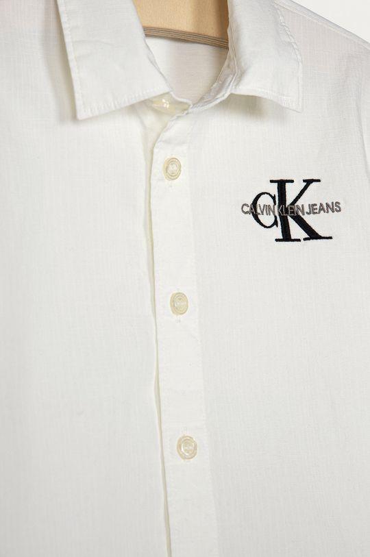 Calvin Klein Jeans - Koszula dziecięca 104-176 cm biały