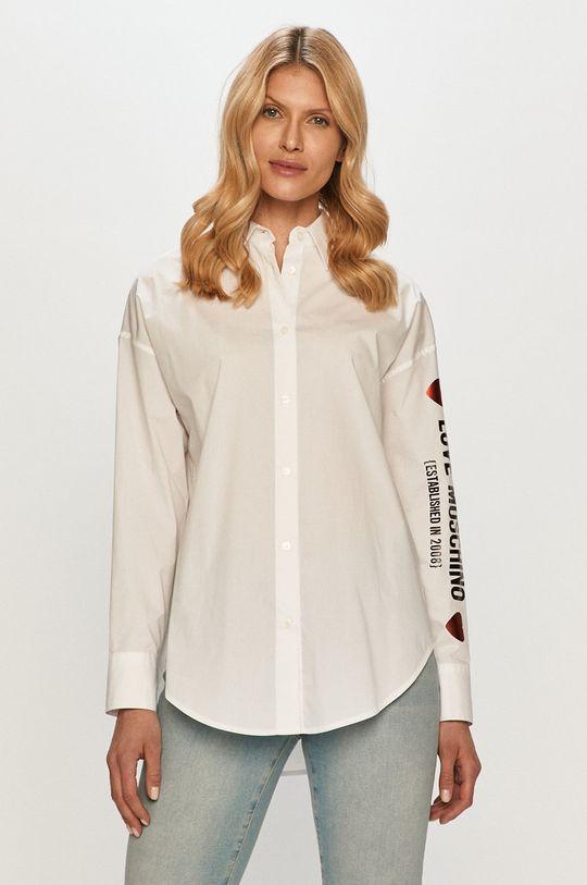biały Love Moschino - Koszula Damski