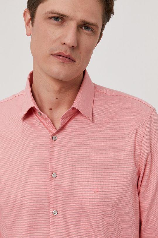 różowy Calvin Klein - Koszula bawełniana Męski