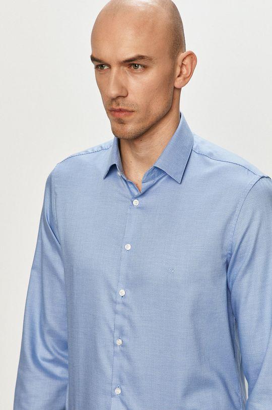 jasny niebieski Calvin Klein - Koszula bawełniana Męski