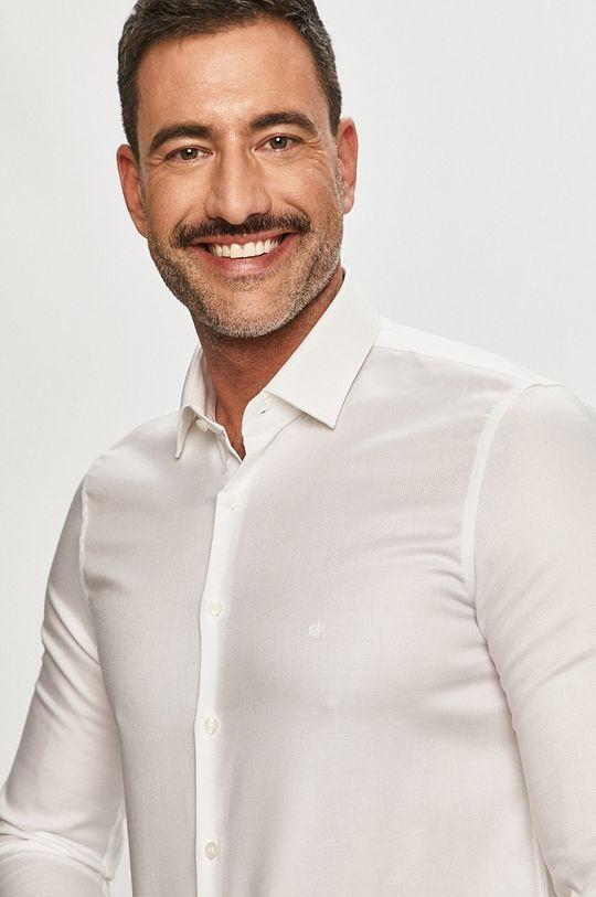biały Calvin Klein - Koszula bawełniana Męski
