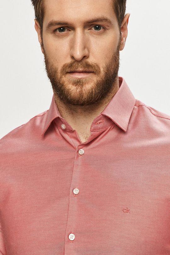 czerwony Calvin Klein - Koszula bawełniana Męski