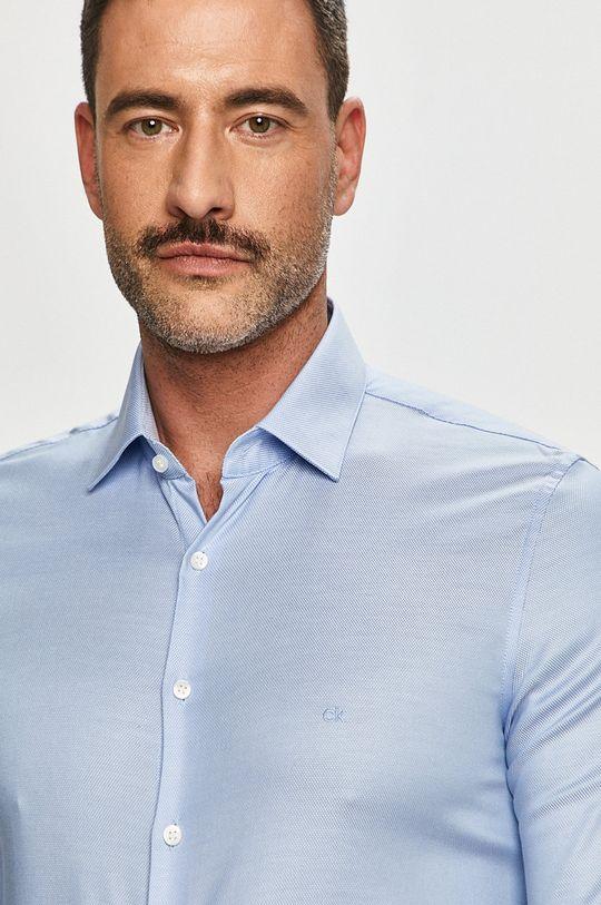 světle modrá Calvin Klein - Bavlněná košile Pánský
