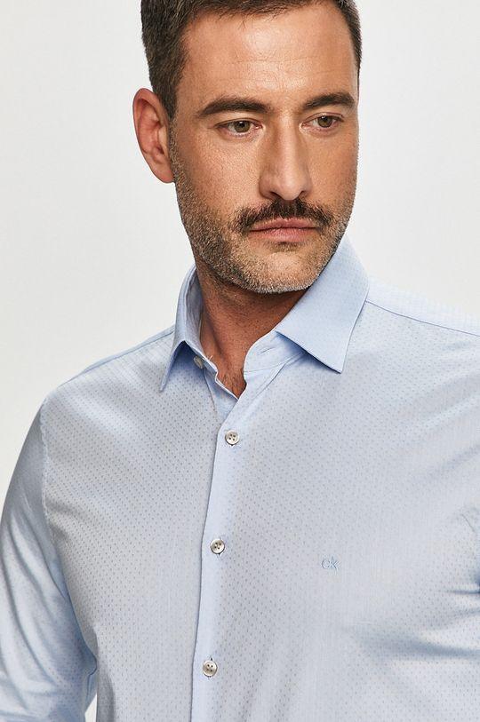 světle modrá Calvin Klein - Bavlněné tričko Pánský