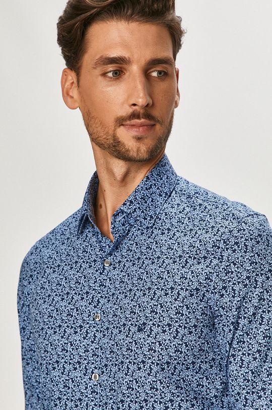 niebieski Calvin Klein - Koszula bawełniana Męski