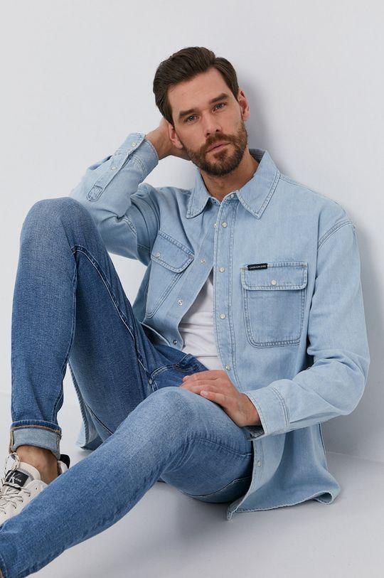 niebieski Calvin Klein Jeans - Koszula jeansowa Męski