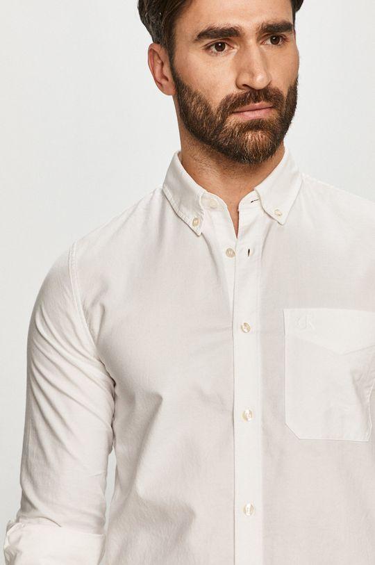 biela Calvin Klein Jeans - Košeľa Pánsky