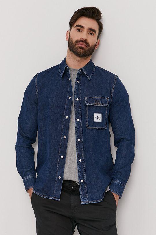 Calvin Klein Jeans - Koszula bawełniana niebieski