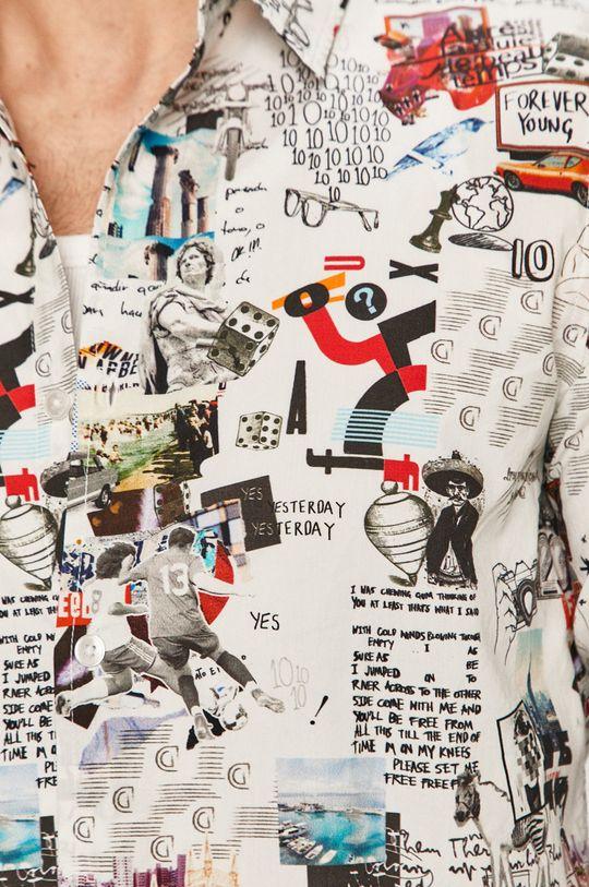 Desigual - Koszula bawełniana biały