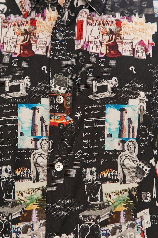 Desigual - Koszula bawełniana czarny