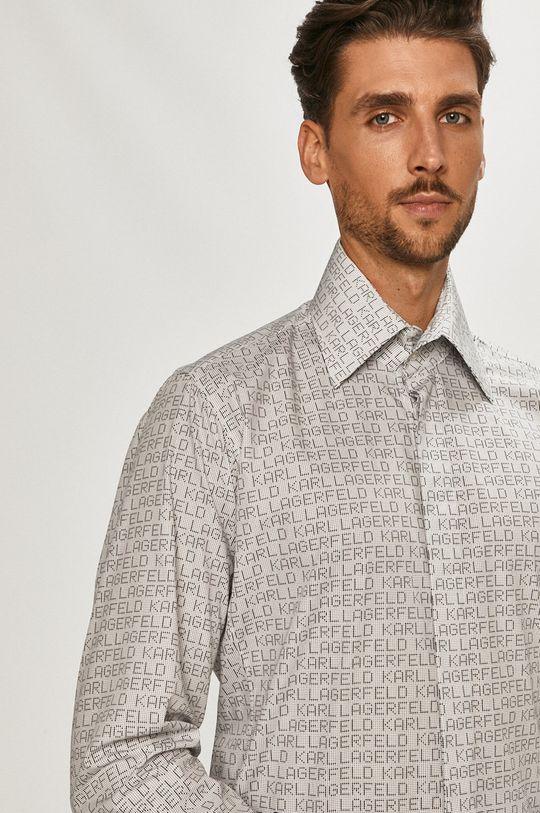 biały Karl Lagerfeld - Koszula Męski
