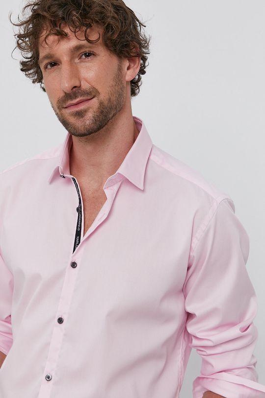 różowy Karl Lagerfeld - Koszula bawełniana Męski