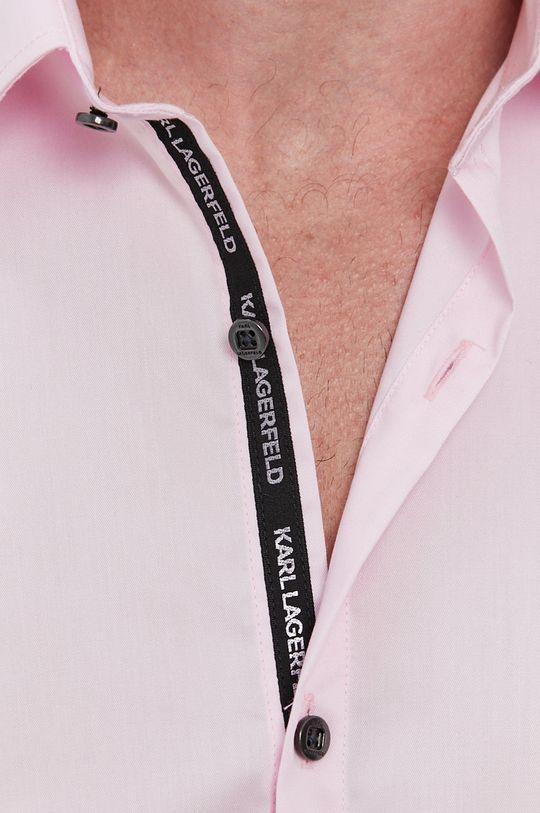 Karl Lagerfeld - Koszula bawełniana różowy