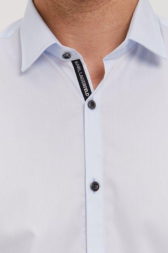 Karl Lagerfeld - Bavlnená košeľa svetlomodrá