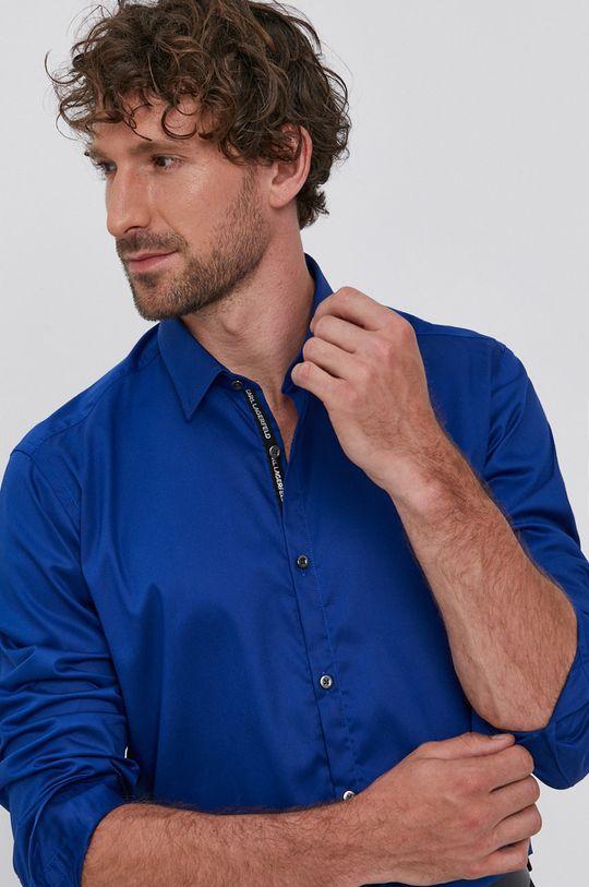 albastru Karl Lagerfeld - Camasa din bumbac De bărbați