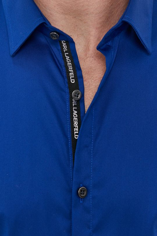Karl Lagerfeld - Camasa din bumbac albastru