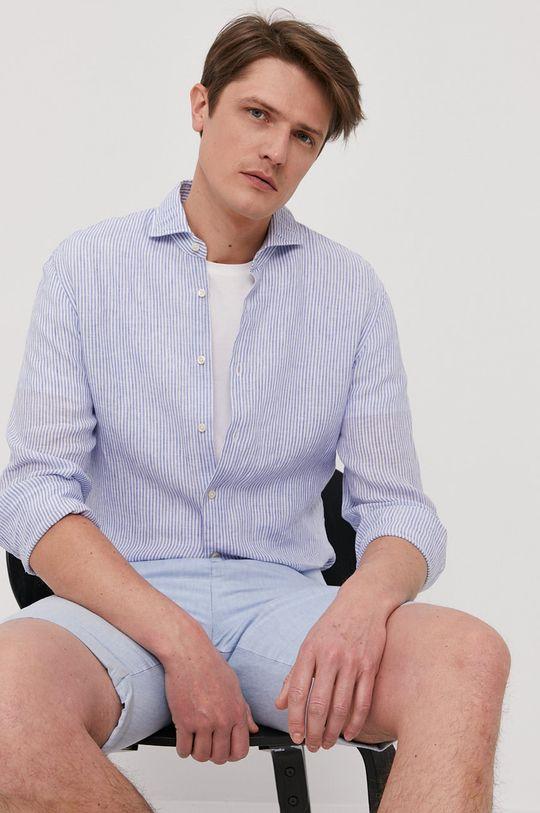 niebieski Baldessarini - Koszula Męski