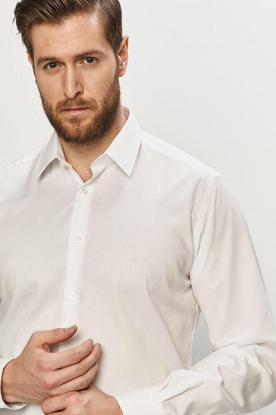 biela Karl Lagerfeld - Bavlnená košeľa Pánsky