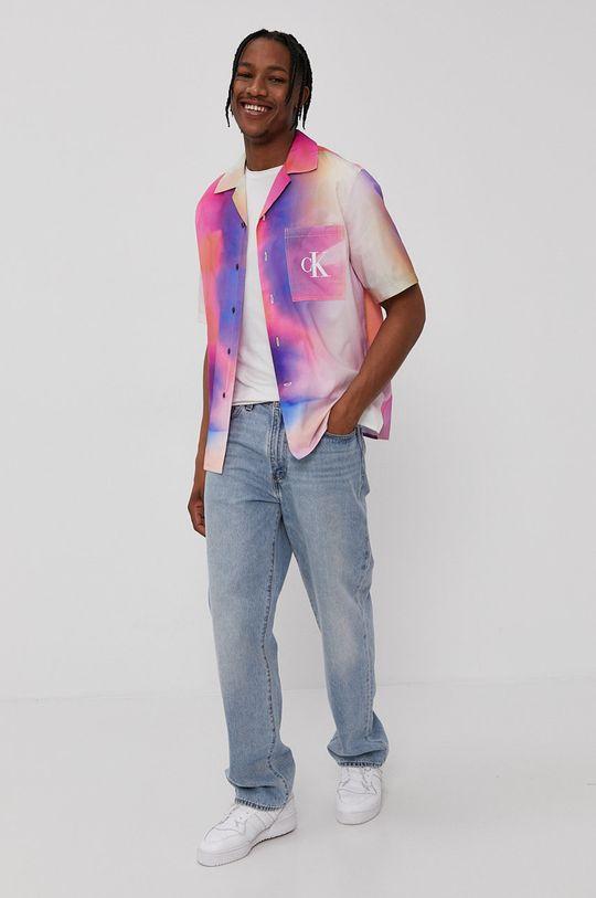 Calvin Klein Jeans - Koszula 55 % Bawełna, 45 % Wiskoza