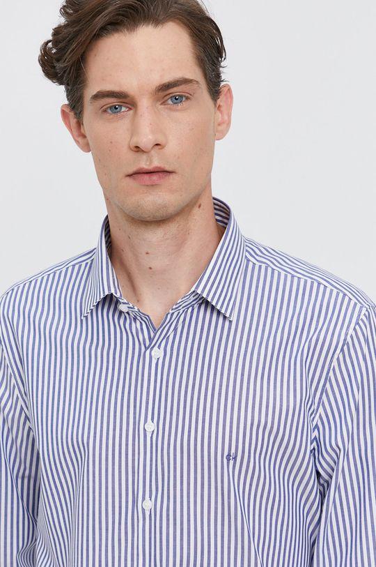 modrá Calvin Klein - Bavlněné tričko Pánský