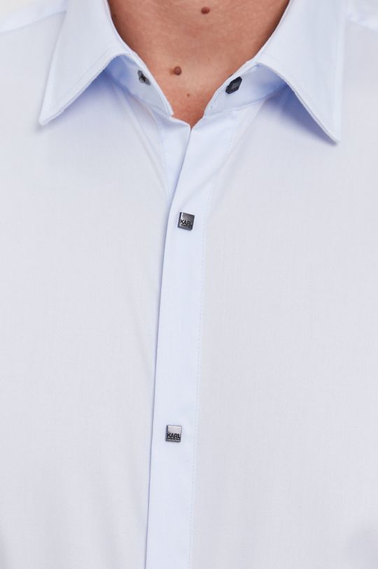 Karl Lagerfeld - Koszula bawełniana jasny niebieski