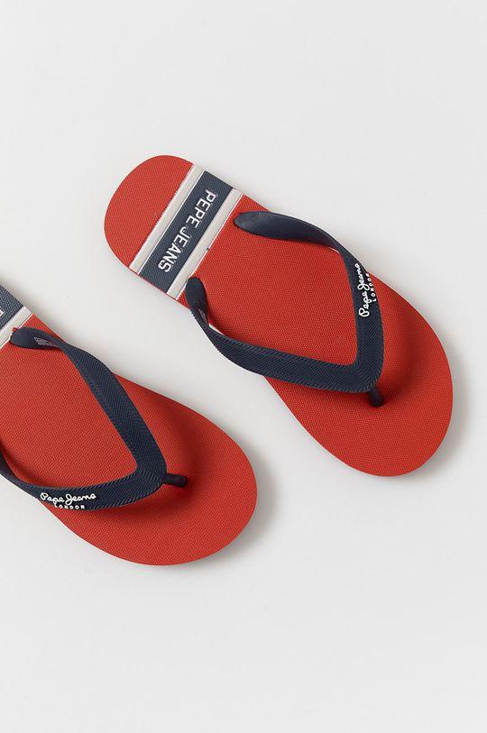 Pepe Jeans - Slapi copii Bay Beach Boy  Material sintetic
