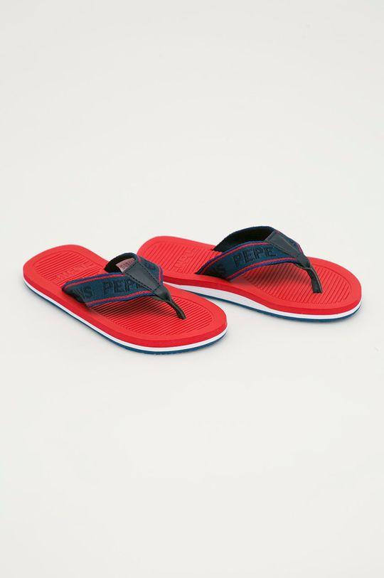 Pepe Jeans - Japonki dziecięce Off Beach Tape czerwony