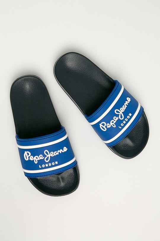 Pepe Jeans - Dětské pantofle Slider modrá