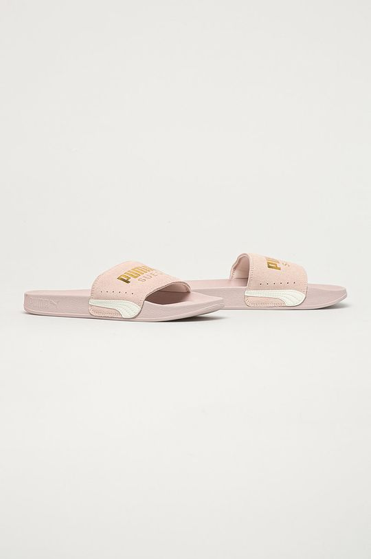 Puma - Kožené šľapky Leadcat pastelová ružová