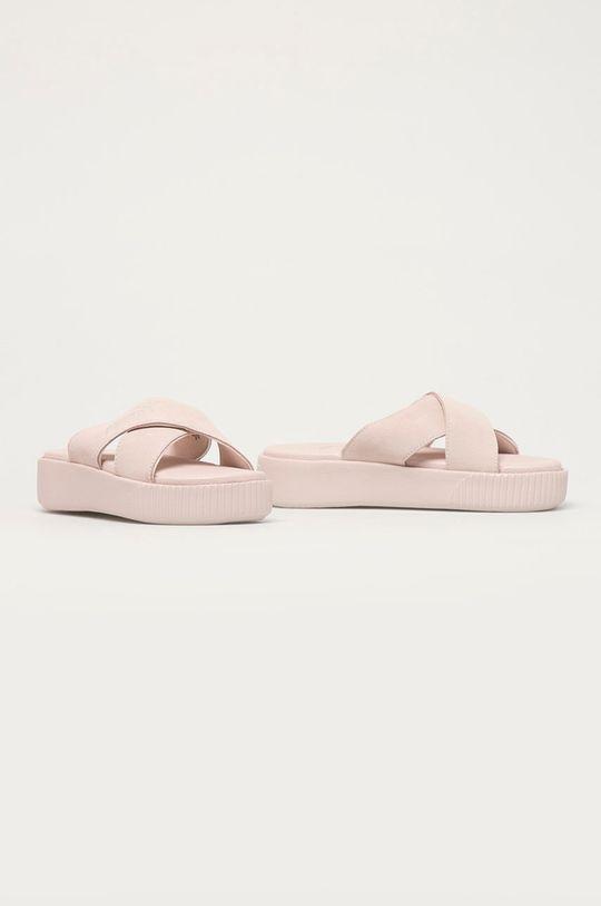Puma - Klapki zamszowe pastelowy różowy