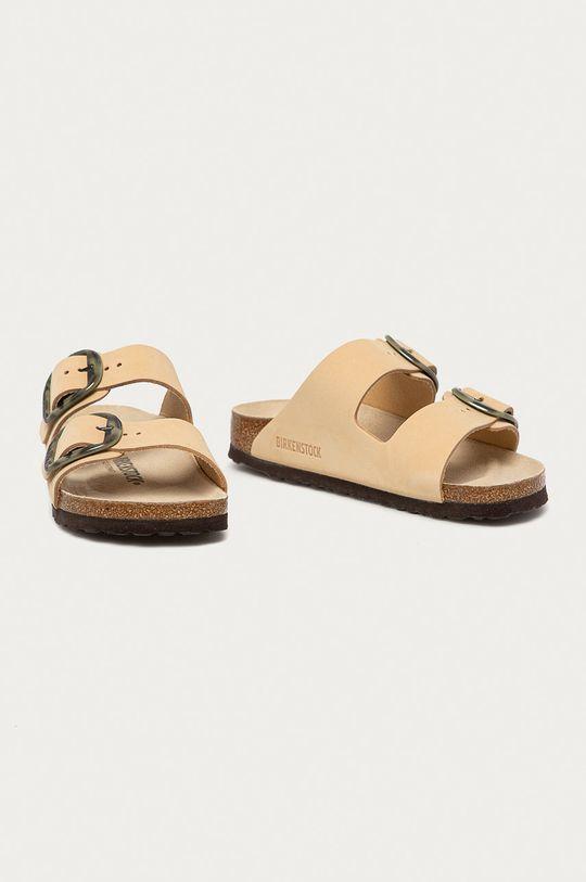 Birkenstock - Kožené pantofle Arizona béžová